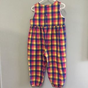 Kelly's Kids 3T VGUC ESJ Monogram Girls Plaid Romp